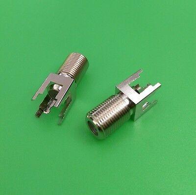 $4.99 • Buy (1 PC) F Female Straight PC Board PCB Mount Long Type Connector - USA Seller