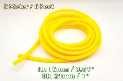 $22.99 • Buy 2 Metre Yellow Silicone Vacuum Hose Air Engine Bay Dress Up 16mm Fit Mustang