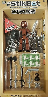Stikbot Stop Motion Animation Toy Action Pack - Weapons Accessories • 11.99£