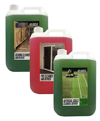 £34.99 • Buy Decking, PVC And Artificial Grass Cleaner - Mega Pack 3x5L (15 Litres)- Relancer