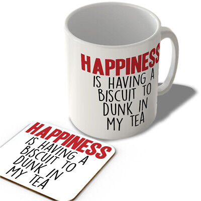 £11.99 • Buy Happiness Is Having A Biscuit To Dunk In My Tea  - Mug And Coaster Set