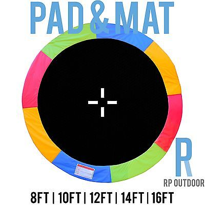 AU170 • Buy NEW Replacement Trampoline Safety Rainbow Mat & Pad Round 8ft 10ft 12ft 14ft 16