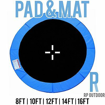 AU123 • Buy NEW Replacement Trampoline Safety Blue Mat & Pad Round 8ft 10ft 12ft 14ft 16ft