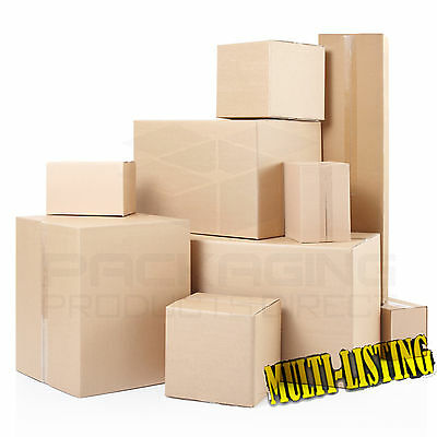Brand New Single & Double Wall Cardboard Postal Boxes - Made From Recycled Paper • 6.65£
