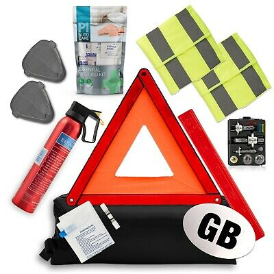 Travel Abroad Euro Car Kit - Legal Driving In Europe - EU Road Emergency Pack • 29.99£