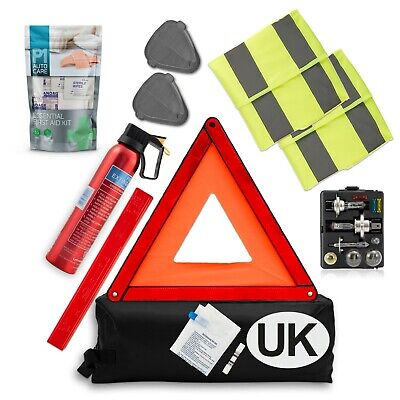 £29.99 • Buy Travel Abroad Euro Car Kit - Legal Driving In Europe - EU Road Emergency Pack