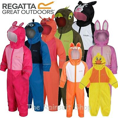 Regatta Puddle Fully Waterproof All In One Charco Rain Suit Kids Childs -rkw148 • 18.99£