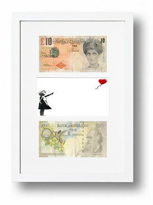 £19.95 • Buy 2 Framed Di-faced Tenners £10 Note Banksy Balloon Girl Presentation
