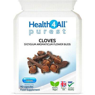 Health4All Ground Cloves 250mg Capsules | PARASITE AND CANDIDA DETOX CLEANSE • 6.99£