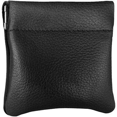 $8.99 • Buy Leather Squeeze Coin Pouch Coin Purse Change Holder For Mens/Womens By Nabob