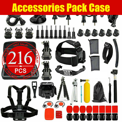 AU32.95 • Buy 216pcs Accessories Case Pack Chest Head Floating Monopod GoPro Hero 8 7 6 5 4 AU