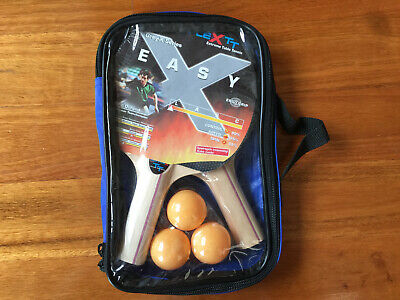 AU32.18 • Buy SUNFLEX EASY Trainer Grey-X Series 2-Player Table Tennis Set With Bats & 3 Balls