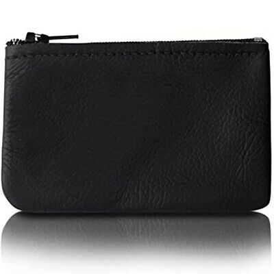 $8.49 • Buy Zippered Coin Pouch/Purse Change Holder For Men/Woman Genuine Leather 4x2.5 In