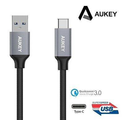 AU25.37 • Buy New Aukey CB-CD2 USB 3.0 Type C Male To Type A Male Cable ( Nylon, Sync Data )