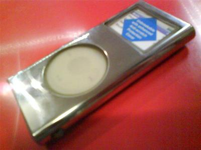 £3.99 • Buy STAINLESS STEEL IPOD NANO 2nd GENERATION 2GB 4GB 8GB CASE WTH CARRY CORD