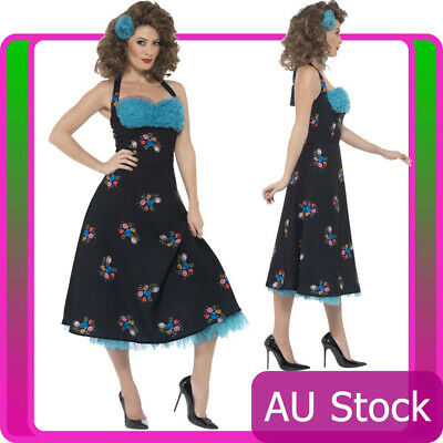 AU52.73 • Buy Licensed Grease Cha Cha Digregorio Costume 1950s 50s Womens Ladies Fancy Dress