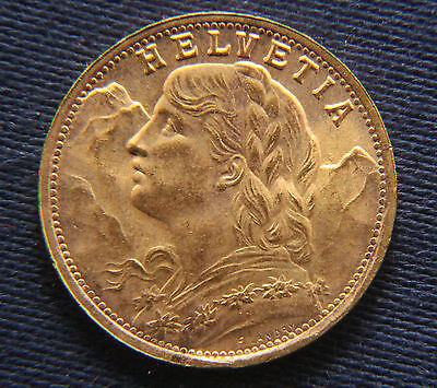 $359.99 • Buy 1935 Lb 20 Franc Swiss Gold Coin  Agw=0.1867