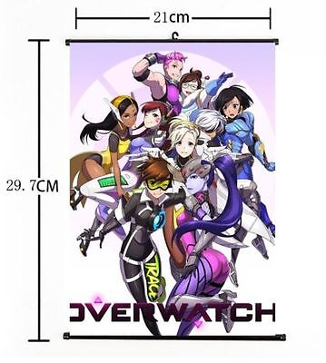 AU9 • Buy Hot Japan Anime Overwatch Whole Art Home Decor Poster Wall Scroll 8 X12  04