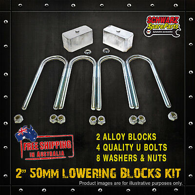AU87.40 • Buy 2 50mm Lowering Block Kit For MITSUBISHI TRITON ME MF MG MH MJ MK 2WD 86-06