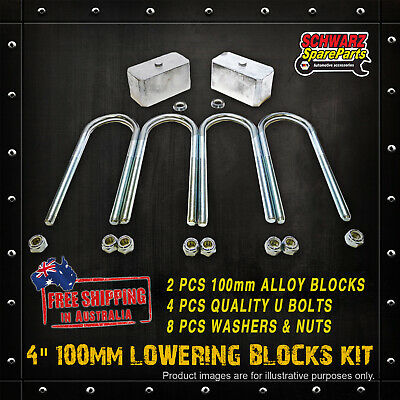 AU155 • Buy 4 100mm Lowering Block Kit For MITSUBISHI TRITON ME MF MG MH MJ MK 2WD 86-06