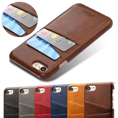 AU8.99 • Buy New Leather Case Card Slot Holder Skin Phone Back Cover For IPhone 6S 7 8 Plus