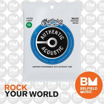AU12.99 • Buy Martin MA530 Acoustic Guitar Strings Extra Light SP Phosphor Bronze 10-47