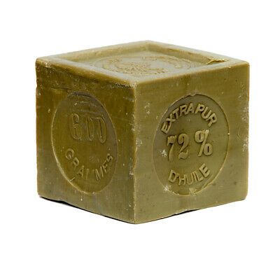 FRENCH SOAP ,SAVON DE MARSEILLE 600g CUBE,NATURAL AND OLIVE OIL, FLAT POSTAGE • 6.95£