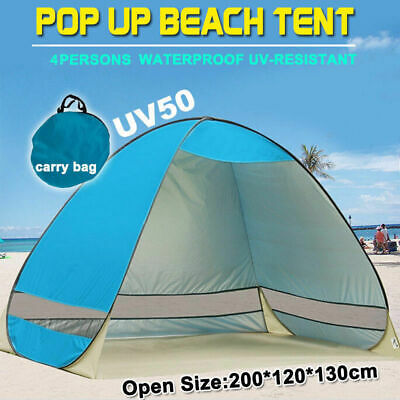 AU28.99 • Buy Pop Up Beach Tent Canopy UV Camping Fishing Mesh Sun Shade Shelter  4 Persons