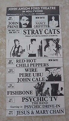 $14.69 • Buy Red Hot Chili Peppers Vintage Oct 8th 1988 Concert Poster Ad 5 X 9.5 Stray Cats
