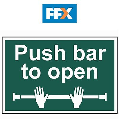 £8.61 • Buy Scan SCA1523 Safety Sign 'Push Bar To Open' - 1mm Thick PVC - 300mm X 200mm