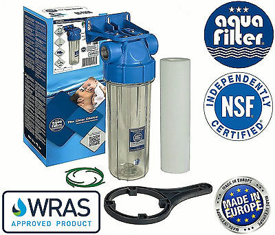 1  3/4  1/2  Cold Water Filtration In-Line Purify System Housing + Filter Set • 19.50£