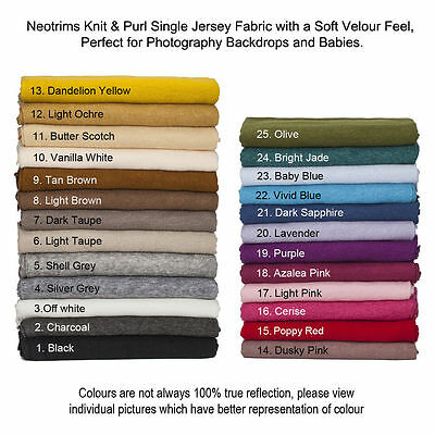 £9.95 • Buy Knit Jersey Fabric Soft Purl Brushed Material,Apparel,Baby Photography,Backdrops