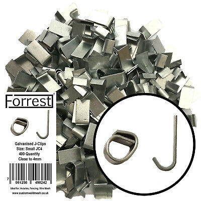 £13.99 • Buy J-clips Aprox 400, Fencing, Aviary's, Wire Mesh, Cage Making, Traps, Heavy Small