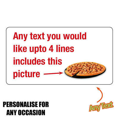 260x Personalised Stickers Business Pizza Delivery Kebab Chip Shop Take Away 684 • 2.95£