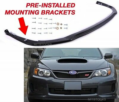 cc4b751b6b2 Fit For 11-14 Subaru WRX STI V Limited JDM Front Bumper Lip Spoiler Body