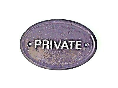 Silver 'private' - House Door Plaque Wall/gate Sign With Silver Raised Lettering • 4.49£