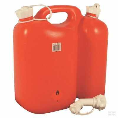 £29.99 • Buy Chainsaw Fuel Can Double Combi Can Jerry Can Red 5.5 L Fuel 3 L Oil With Spout
