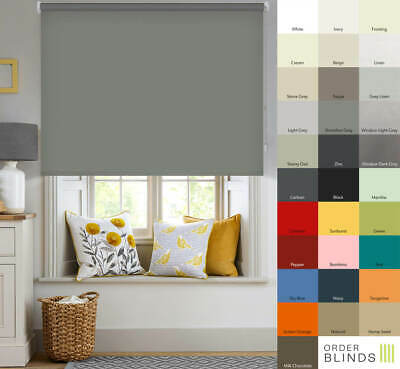 Blackout Roller Blinds - Quality Made To Measure Thermal Blackout Roller Blinds • 33£