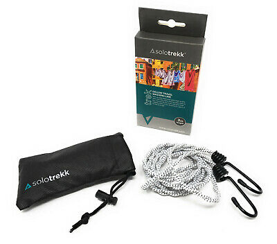 £8.99 • Buy Solotrekk Deluxe Clothes Travel Washing Line 3m | Pegless | Camping