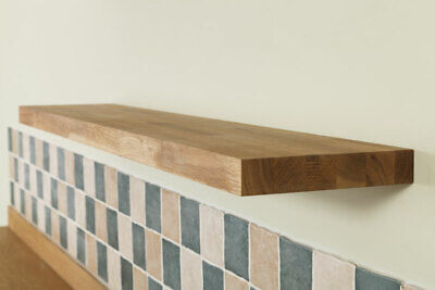 Solid Oak Wooden Floating Shelves - Quality Natural Wood Timber Shelf / Shelving • 27£