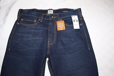 $17.99 • Buy Distressed DOCKERS 5-Pocket Straight Fit Men's Dark Blue Jeans, Stretch NWT
