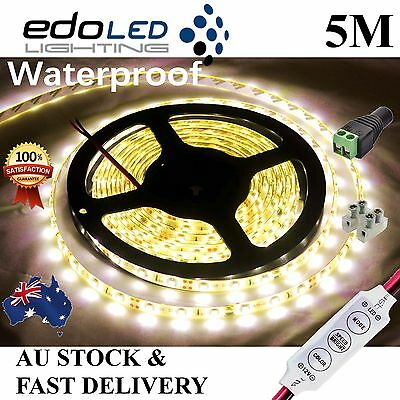 AU9.85 • Buy Waterproof 12V Warm White 5M 3528 SMD 300 LED Strips Led Strip Lights Camping