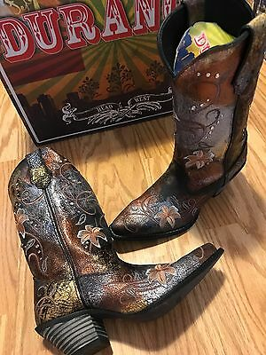 $79.99 • Buy Durango Crush Flowered Metallic Cowgirl Western Boots RD3030 Women's 7 M
