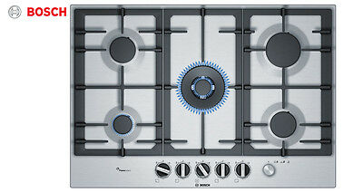 BOSCH PCQ7A5M90 75cm Built-in Stainless Steel Kitchen Gas Hob WOK Burner!!! • 465£