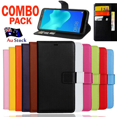 AU6.99 • Buy For Huawei Y7 PU Wallet Leather Card Holder Flip Magnetic Stand Case Cover
