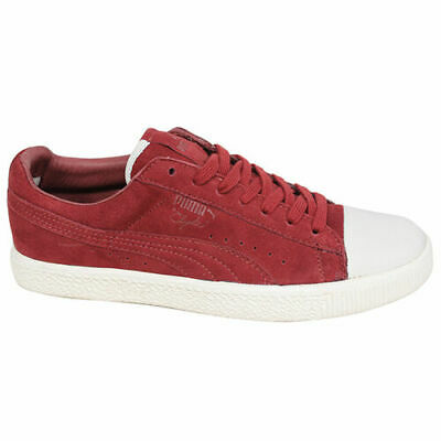 Puma Clyde X UNDEFEATED Suede Mens Lace Up Red White Trainers 352778 01 B78 • 29.99£