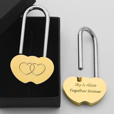 Personalised Engraved Padlock Love Lock Anniversary Valentines Gift With Box • 4.99£