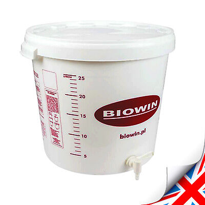 £17.99 • Buy New 25-30 Liters Fermentation Bucket With Tap Vessel Home Brew Beer Wine Cider