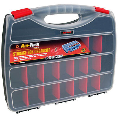Large 380mm Multi Compartment Section Storage Box Organiser - Adjustable - New • 8.99£