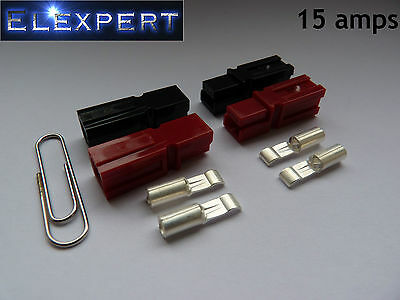 4 X Anderson Powerpole 15amp Electrical Connector Plug_golf Trolley_kit Car_rc • 4.49£